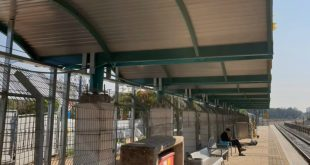 הקירוי בתחנת קיסריה-פרדס חנה (צילום: דוברות רכבת ישראל)