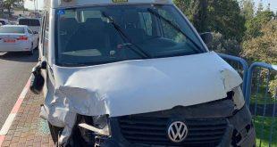 הרכב שהיה מעורב בתאונה (צילום דוברות המשטרה)