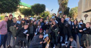 """פעילות חווייתית בבית הספר. המשלחת מארגנטינה (צילום: מתנ""""ס עכו)"""