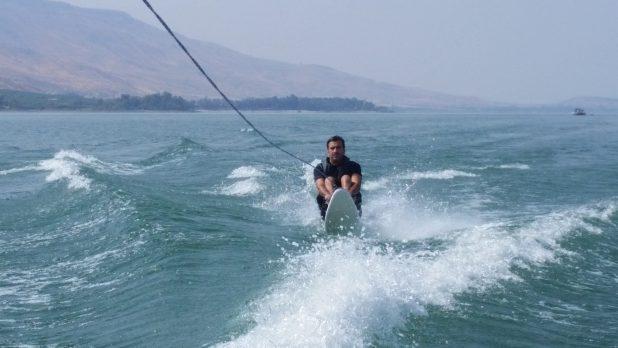 רונן דוד סקי בכנרת צילום עצמי