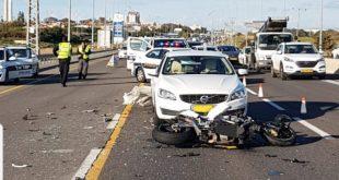 תאונה בכביש החוף (צילום: דוברות המשטרה)