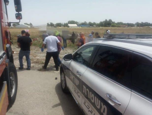 כוחות ההצלה בשטח (צילום דוברות המשטרה)