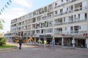הבניין בו אירע פיצוץ הגז בנתניה