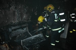 4 צוותים כיבוי את האש  (צילום: יגאל בן אבו כיבוי אש גליל מערבי)