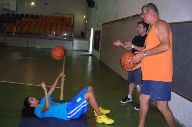 לב צור וריזמן באימון