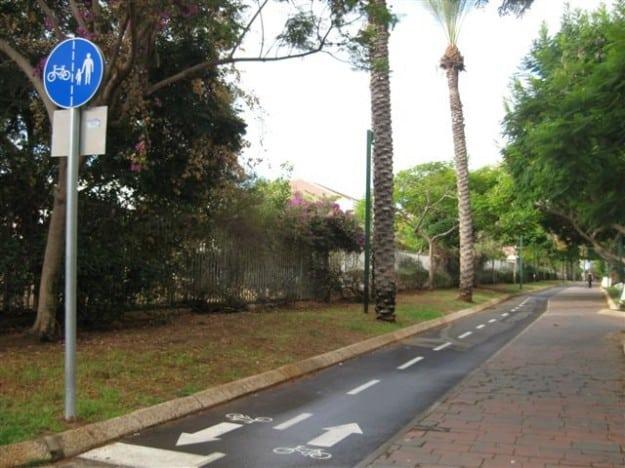 שביל האופניים בין קרית נורדאו לשכונת רמת פולג