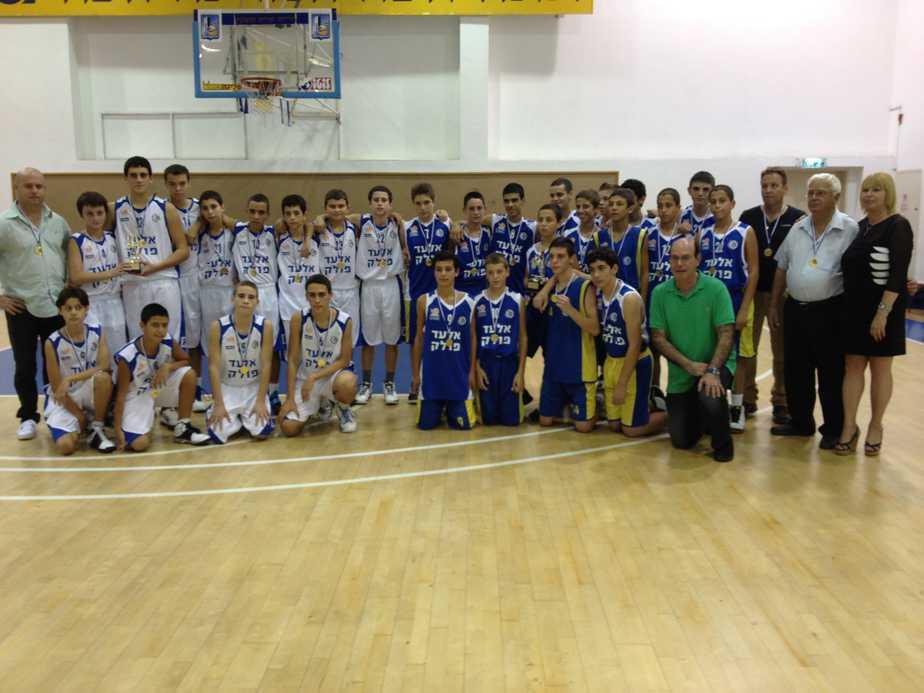 מכבי מוצקין בטורניר לזכרו של אלעד פולק (צילום: דוברות עיריית מוצקין)