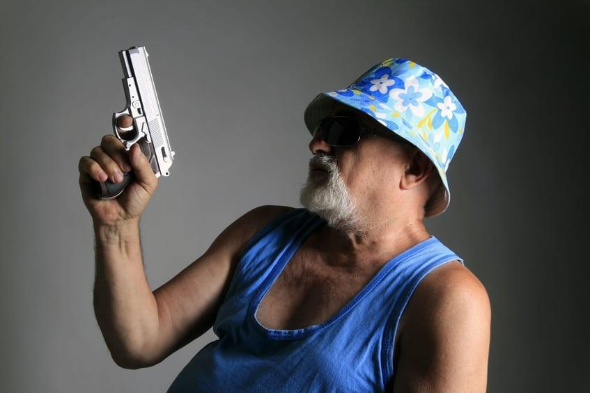 עליה חדה במכירת אמצעי הגנה כגון אקדחי גז (צילום: אילוסטרציה )