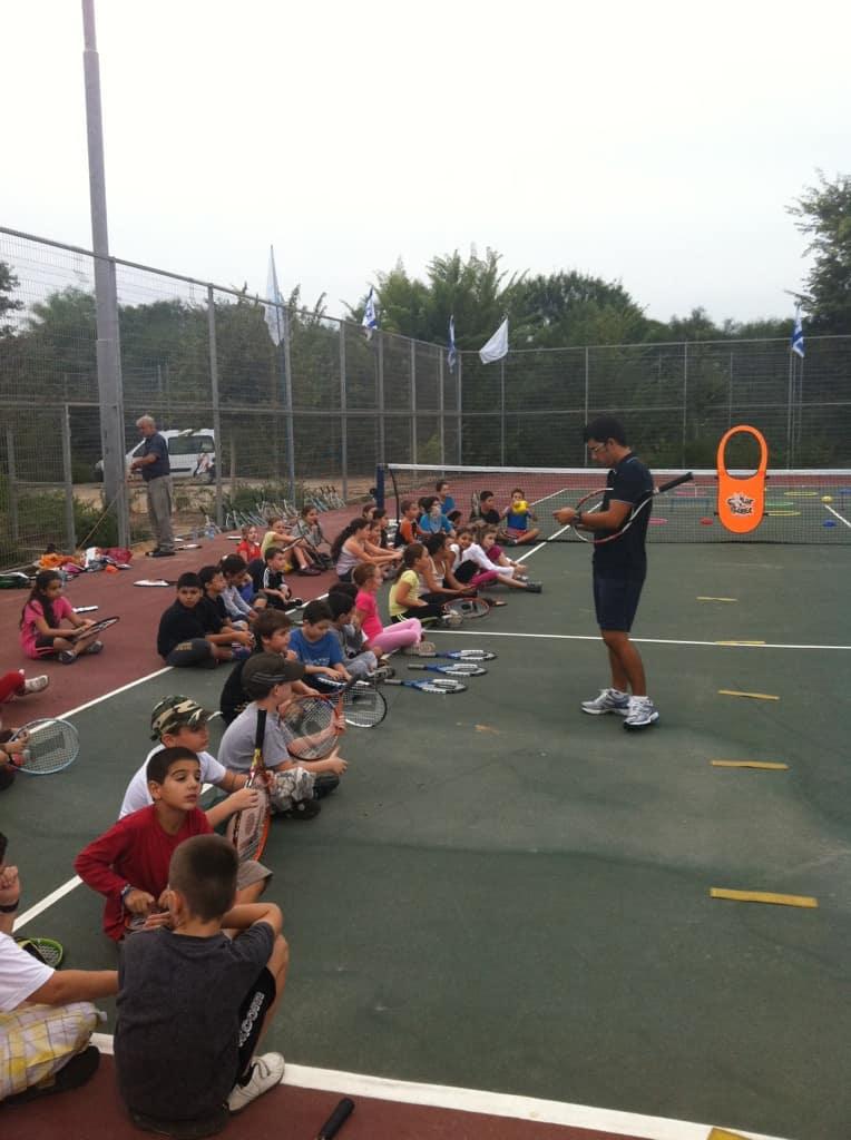 חנוכת מגרשי הטניס