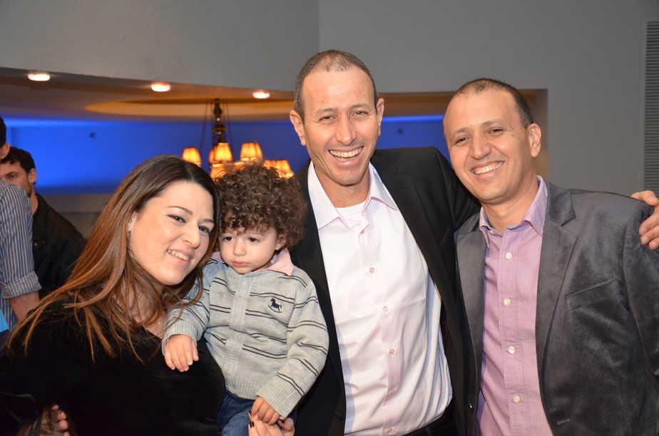משפחה יפה. ליאור, שמעון, הראל ונינת לנקרי