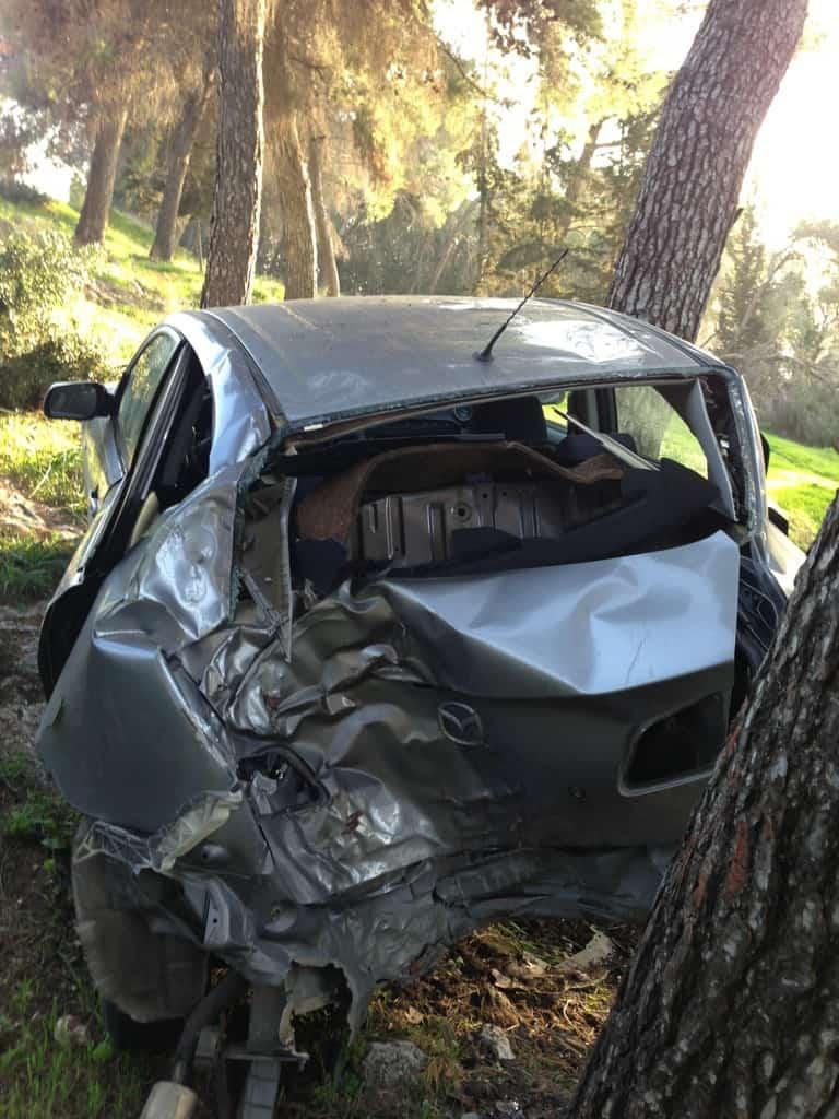 הרכב לאחר התאונה  (צילום: עצמי)