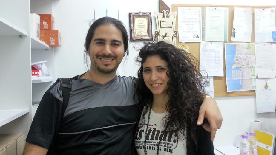אושרי כהן ולינה מחול   (צילום: עצמי)