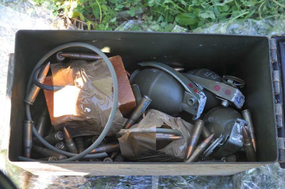 רימונים שנתפסו באבו סנאן  (צילומים: המחוזי הצפוני)
