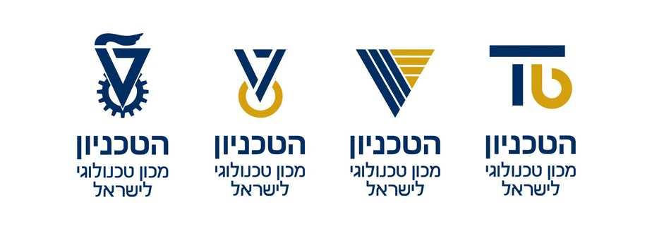 הלוגו הנוכחי (משמאל) בצד השלושה העומדים לשיפוט הבוגרים, הסטודנטים ועובדי הטכניון.