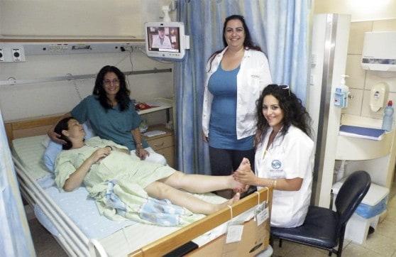 רפלקסולוגיה ביולדות בית החולים כרמל