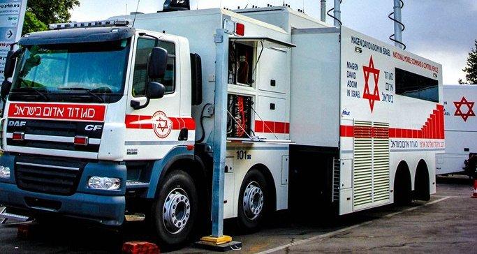 """משאית החפ""""ק של מד""""א (צילום: דוברות מד""""א)"""