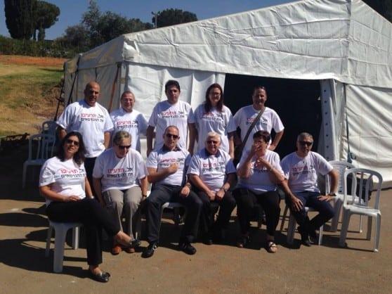 אוהל המחאה של מכללת נצת עילית-יזרעאל (צילום: עצמי)