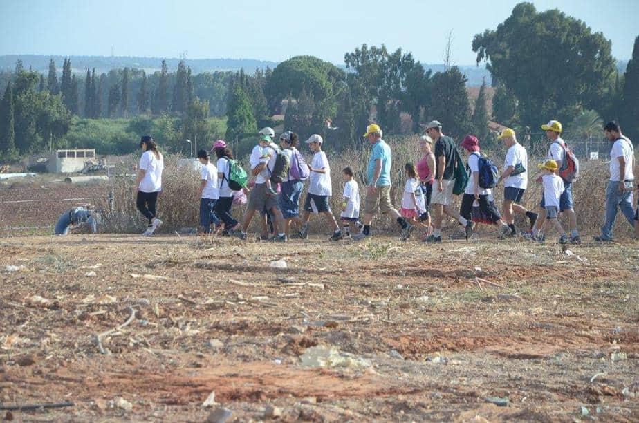 צעדת פרדס חנה כרכור (צילום: פאבל שטיין)