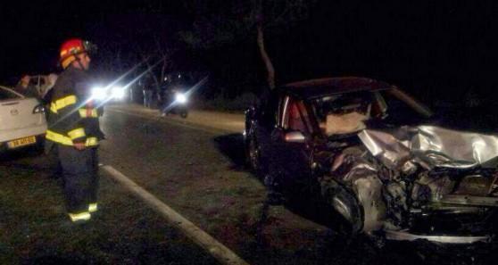הרכב הפגוע בתאונה (צילום: דוברות כבאות מחוז חוף)