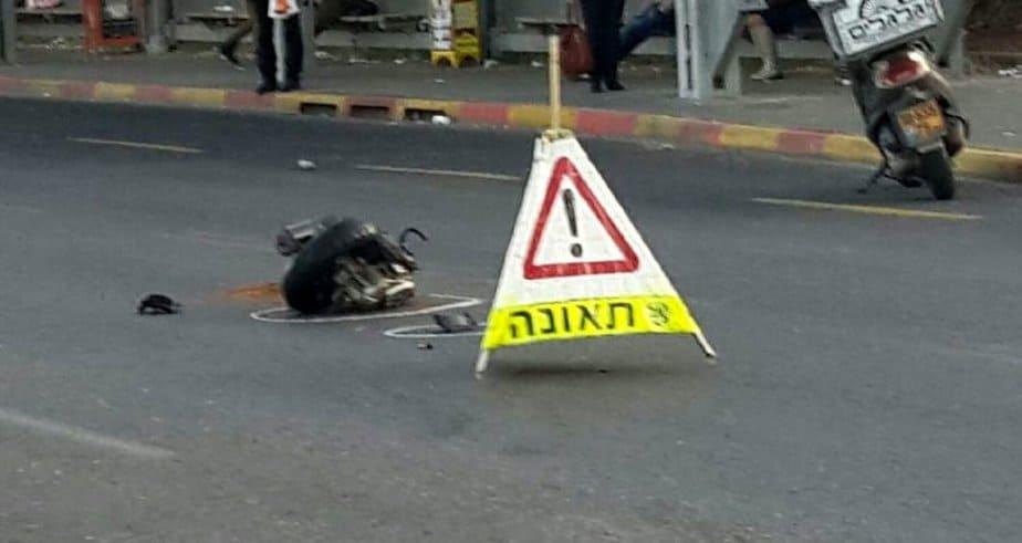 """תאונה תאונת דרכים (צילום: מד""""א)"""