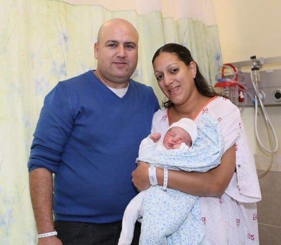 """התינוק הראשון ברמב""""ם לשנת 2014"""