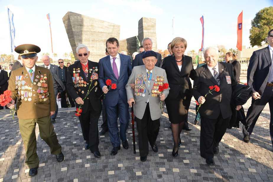 """יו""""ר הפרלמנט הרוסי ופיירברג (צילום: רן אליהו)"""