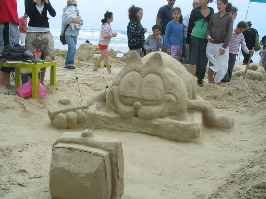 פיסול בחול( צילום: אייל מטרני)