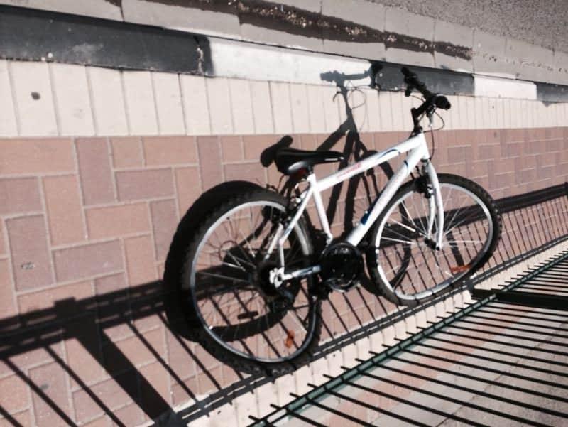אופניו של הילד בן 8