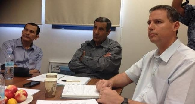 משלב, אדרי וסהר בפגישה  (צילום: איגוד ערים לשמירת איכות הסביבה שרון-כרמל)