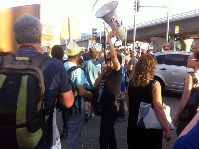 הפגנה נגד זיהום אוויר במפרץ חיפה