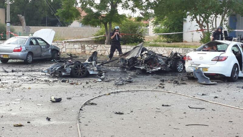 פיצוץ רכב באור עקיבא הבוקר