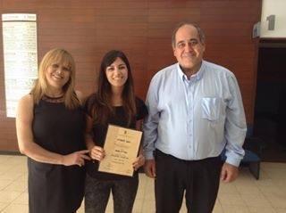 אוריין עם הוריה גבי ונורית במעמד קבלת התואר מן הטכניון