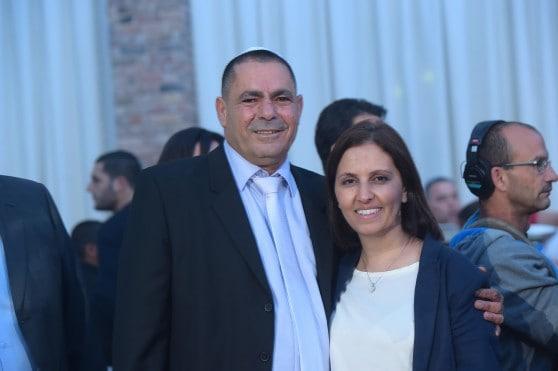 גילה גמליאל עם אלי ארביב (צילום: דודו ספונטני)