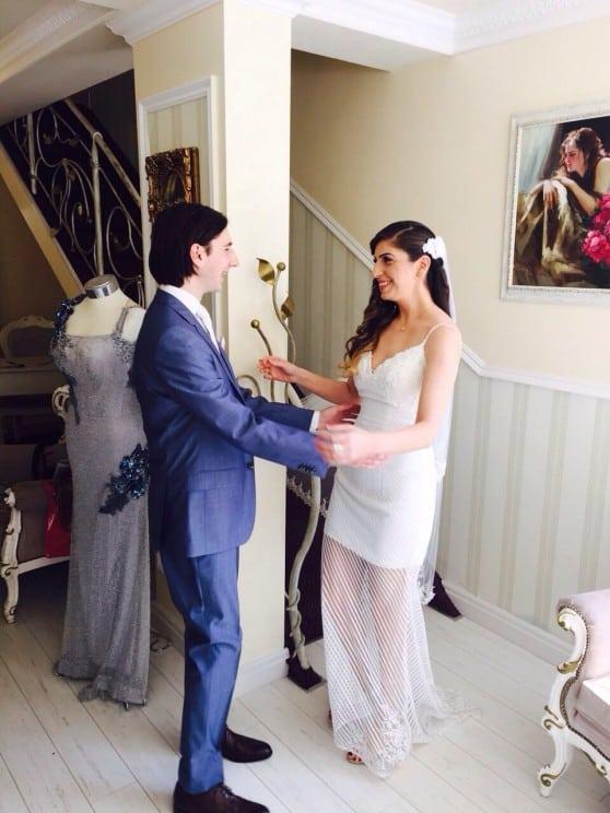 חתונת השנה. סיגל וג'ק קהאן  (צילום: דודו ביטון)