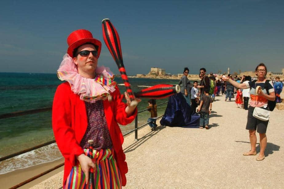 פסטיבל פורים בנמל קיסריה (צילום: נמרוד גליקמן)