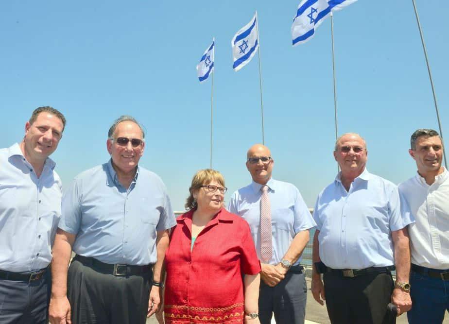 טקס חנוכת מחלף אלנבי בחיפה (צילום: צבי רוגר)