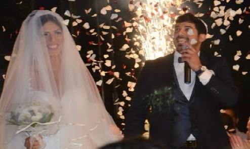 קארין והזמר שי יחיאלי התחתנו באולמי כינורות (צילום: view יוני אוחיון)