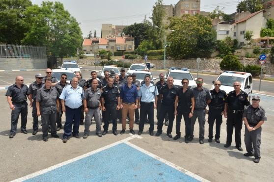 סיירת הביטחון של נצרת עילית (צילום: דוברות העירייה)