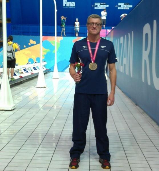 מדליית זהב ושיא אירופי. איגור קרבקוב בקאזאן  (צילום: עצמי)