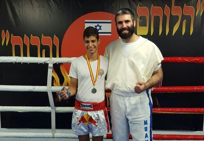 סגן אלוף אירופה. אור משה עם המאמן דרור ולורד (צילום: עצמי)