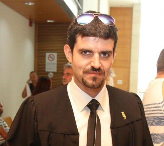 """""""נמשך לטעון לחפותו"""". עורך הדין אולג פרגין (צילום: שלומי גבאי)"""