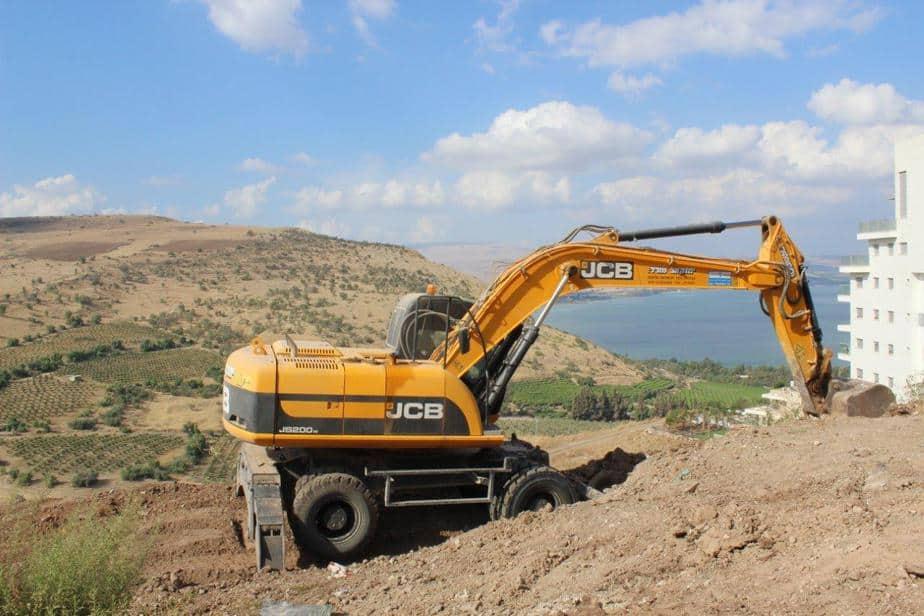 """החלו העבודות בקרקע. פרויקט ברקת בטבריה (צילום יח""""צ)"""