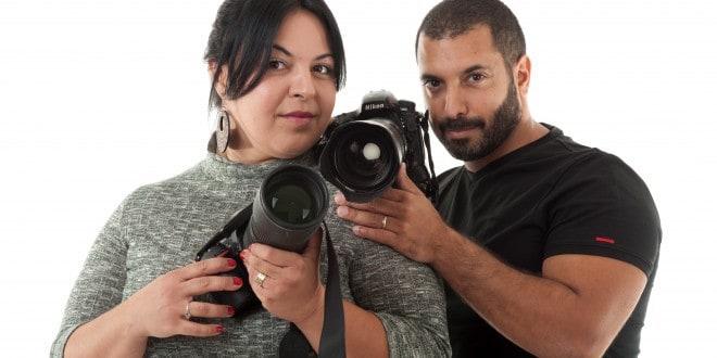 לעבוד ולצלם יחד. לימור וגונן שמר (צילום: דורון גולן)
