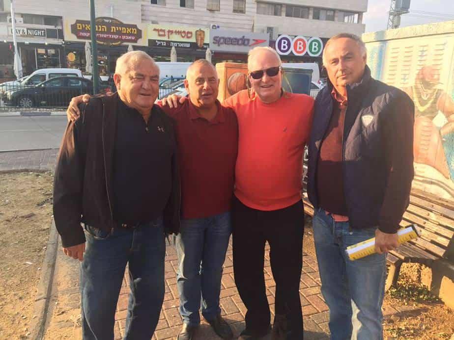 מה עם מכבי? איזיקוביץ, לנד, פדרינג ושרף (צילום: פרטי)