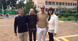 טובה דולב, שי פרוכטמן, דורון מהרב ועקיבא אקבייב, אב הבית של אלומות (צילום: פרטי)