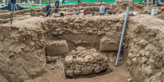 אתר החפירה ברחוב בלפור (גיא פיטוסי, באדיבות רשות העתיקות)