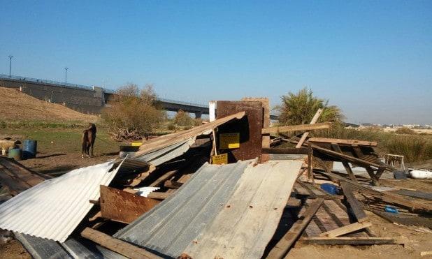 הרסו את המבנה והשיבו את הקרקע (צילום: רשות מקרקעי ישראל)