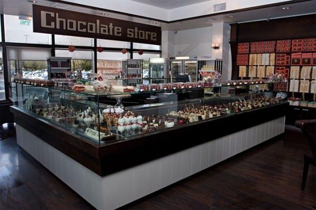ארט דה קוקו מבט כללי לדוכן שוקולד