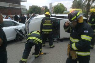 התאונה בעפולה (צילום יצחק סולומון)