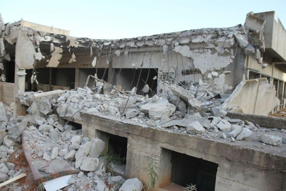 """המבנה לאחר שנהרס, השבוע (צילום: יח""""צ)"""